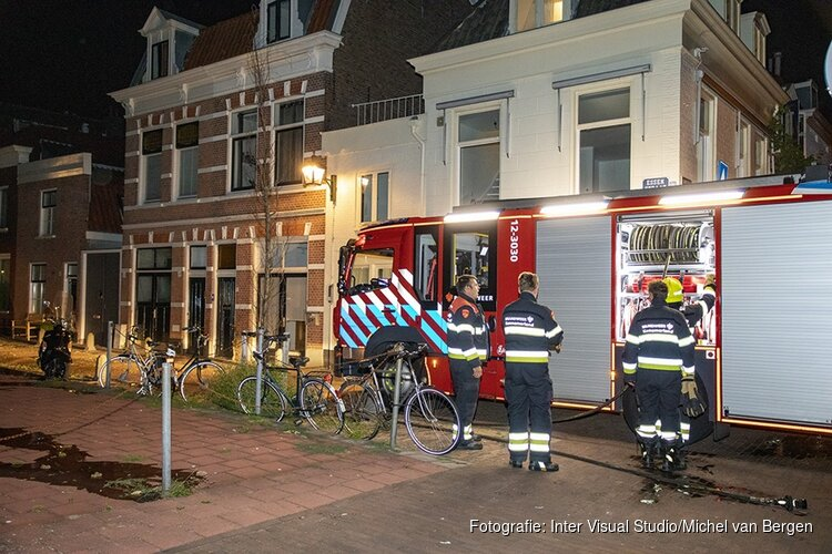 Afval in de brand gestoken aan de Essenstraat
