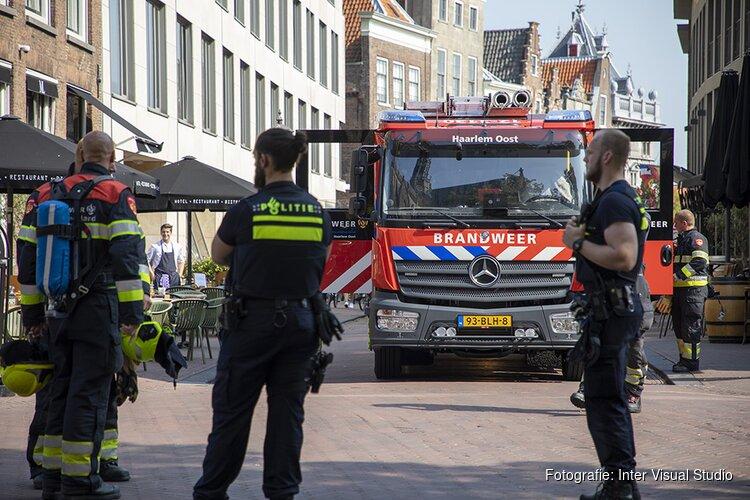 Brand bij restaurant aan de Oude Groenmarkt in Haarlem