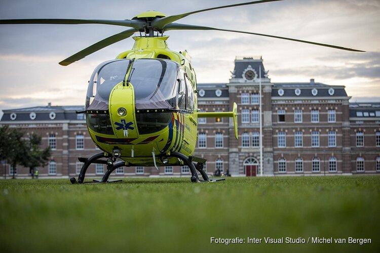 Traumahelikopter voor Ripperdakazerne geland