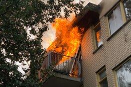Fikse woningbrand aan het Diaconessenplein in Haarlem