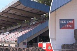 """Borden van Kick Smit-tribune HFC Haarlem ontvreemd: """"Hebben voor veel mensen emotionele waarde"""""""