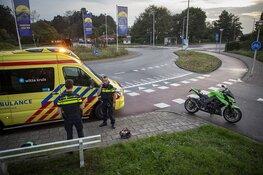 Motorrijder gewond na ongeval op rotonde bij Zandvoort
