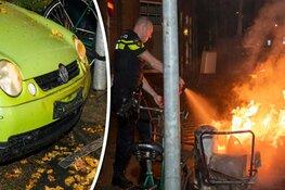 Auto beschadigd door brand in Haarlem-Noord