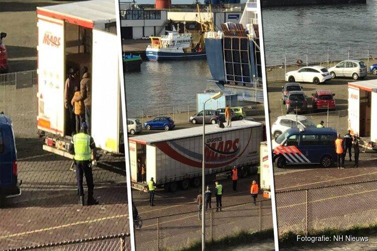 Migranten in truck haven IJmuiden afkomstig uit vijf landen in Azië en Afrika