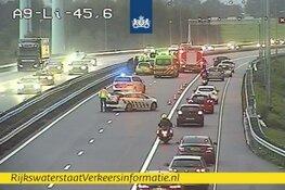 Botsing met acht voertuigen op A9: meer dan twee uur vertraging richting Amstelveen