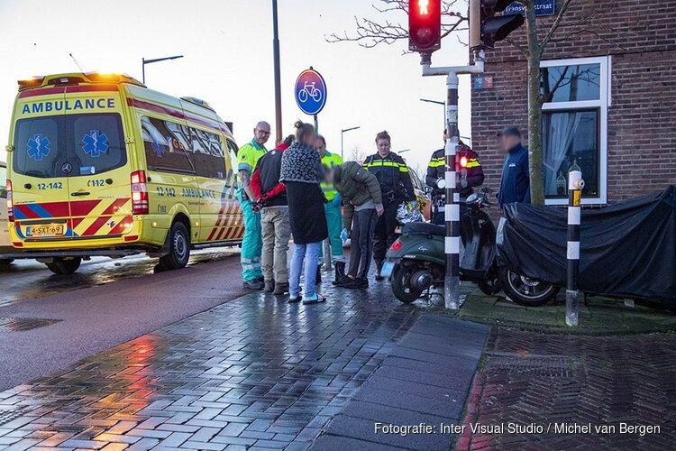 Jonge scooterrijder gewond na ongeval