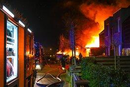 Grote brand aan de Maerten van Heemskerckstraat in Heemskerk