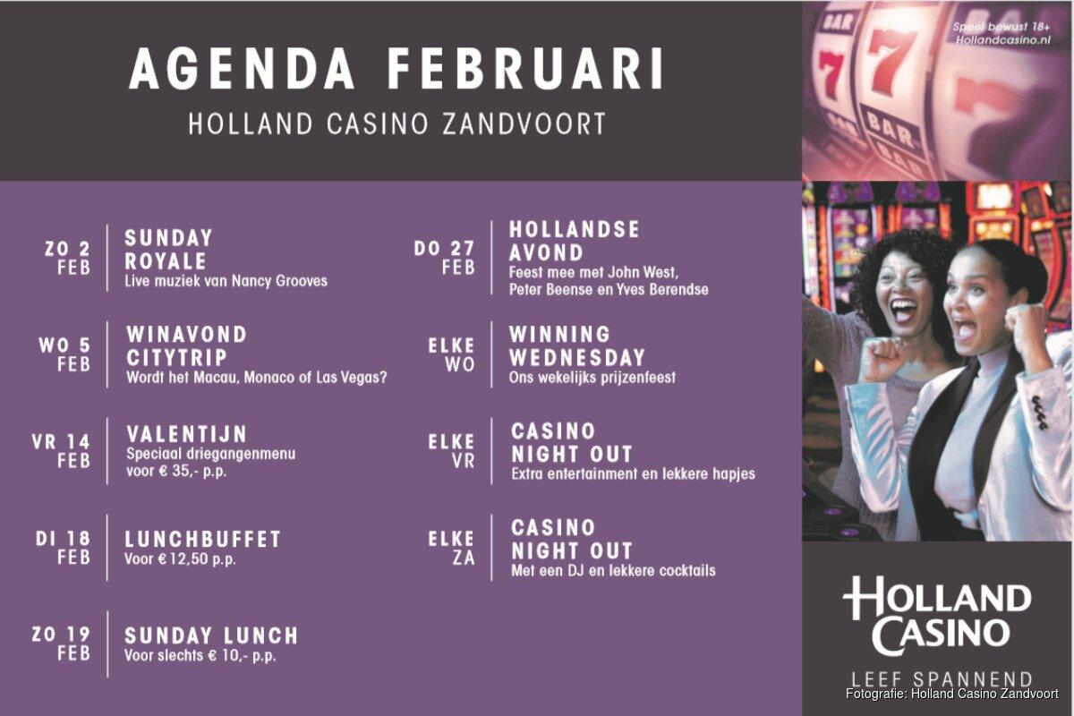 Holland Casino Agenda