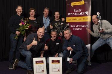 Postma Vleeswaren uit Haarlem landelijke 'Kampioen Worstmakerij van het jaar 2020'