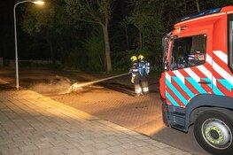 Buitenbrand aan de Rutherfordstraat in Haarlem