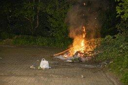 Weer brand gesticht op de Planetenlaan in Haarlem
