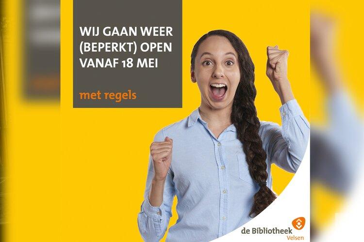 Bibliotheek Velsen gaat weer open