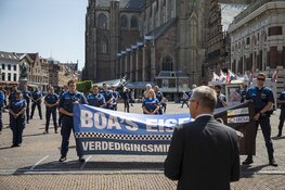 BOA protest tegen geweld op Grote Markt Haarlem