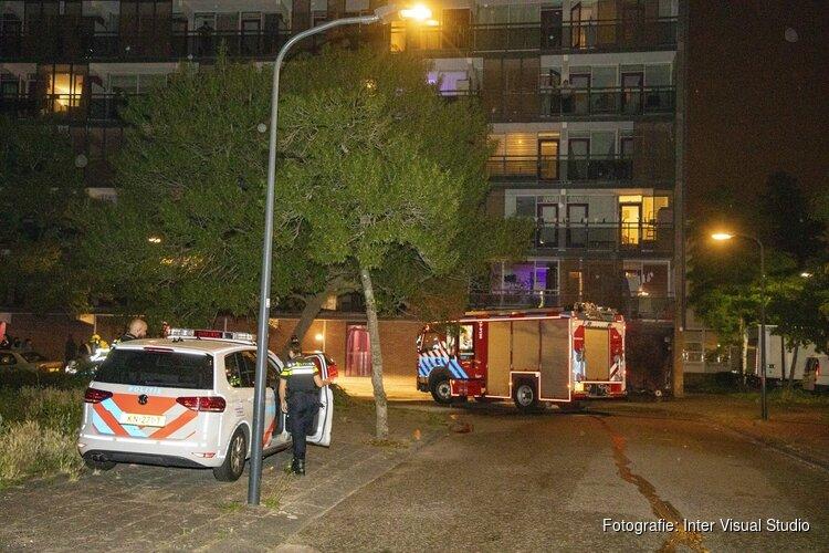 Brand tegen flat aan de Thomas Morestraat in Haarlem