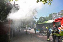 Metershoge vlammen uit Ziggo wijkkast, buurt zonder internet en tv