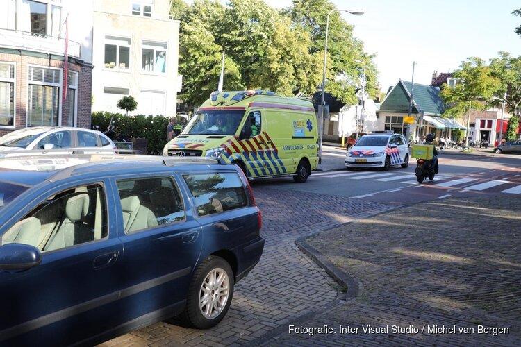Auto en motor botsen in Heemstede
