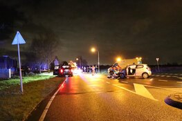 Twee auto's total loss in Heemskerk