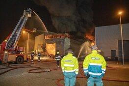 Zeer grote brand in loods aan de Timmerwerf in Heemskerk