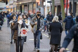 Drukte in Haarlemse binnenstad voor lockdown