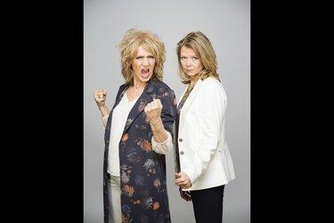 Interactief theatercollege van twee powervrouwen